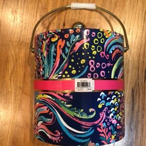 Lily Pulitzer ice bucket featured in beach loot